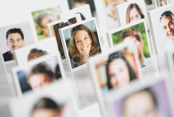Stockfoto: Glimlachend · mensen · portretten · groep · gelukkige · mensen · meisje