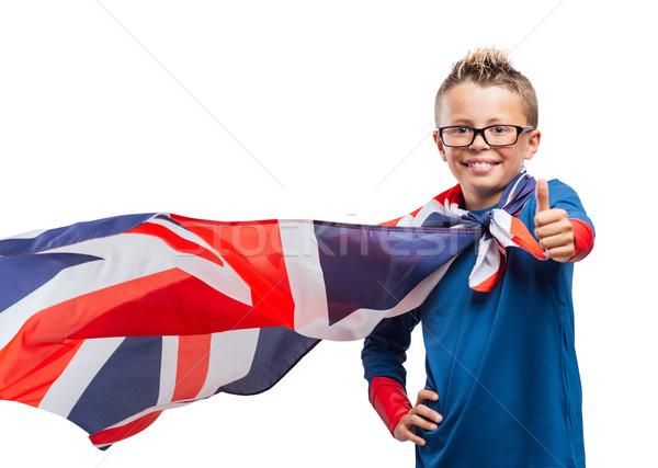 Smiling superhero thumbs up Stock photo © stokkete