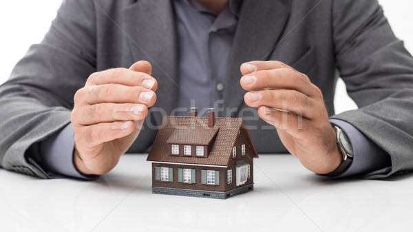 Home insurance plans Stock photo © stokkete