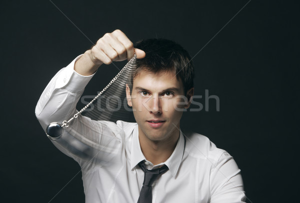 Zakenman zakhorloge mode mannelijke jonge man Stockfoto © stokkete