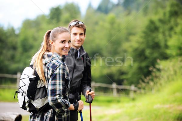 Nordic Walking Stock photo © stokkete