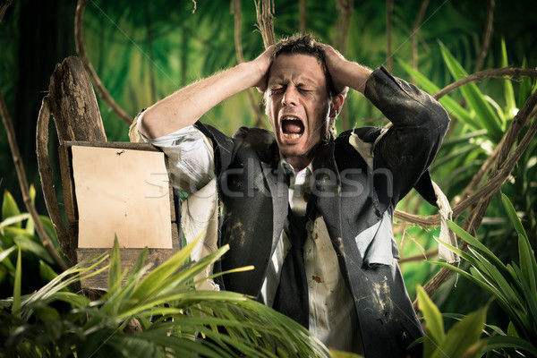 Stock photo: Lost in business jungle