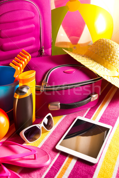 Zomer tablet kleurrijk Stockfoto © stokkete