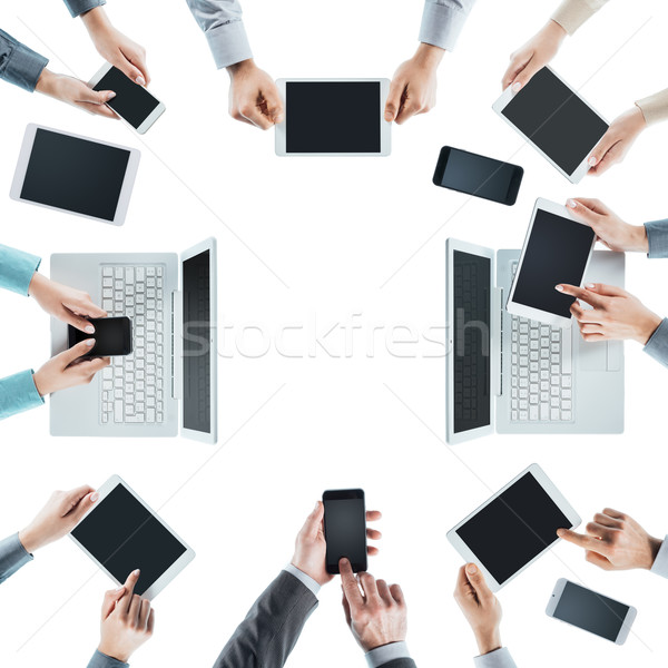 Business people social networking Stock photo © stokkete