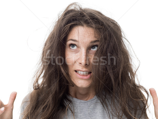 Bad hair day Stock photo © stokkete