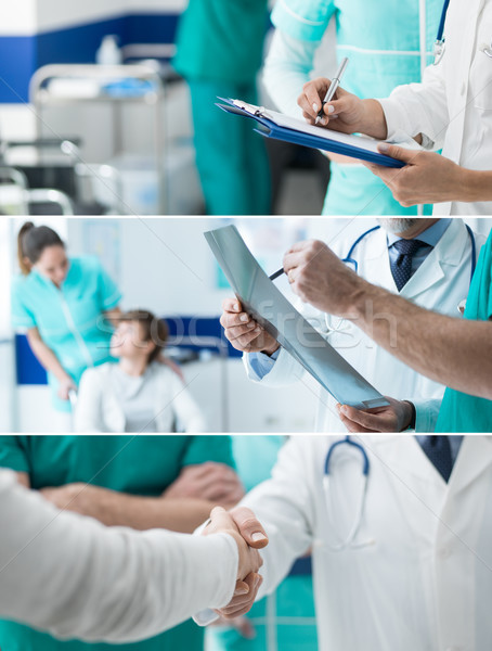 Сток-фото: здравоохранения · профессионалов · Баннеры · набор · медицинской · сотрудников
