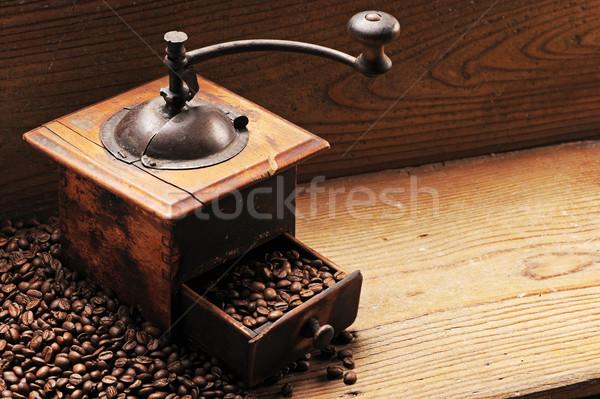 Chicchi di caffè terra caffè alimentare Foto d'archivio © stokkete