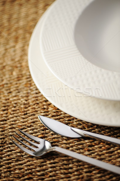 Place setting ready for the banquet.Soft focus. Stock photo © stokkete