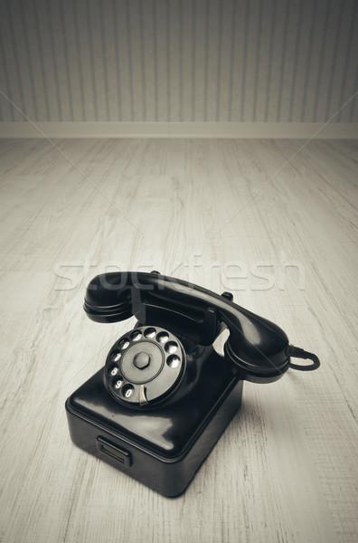 Eski telefon iş teknoloji iletişim Stok fotoğraf © stokkete