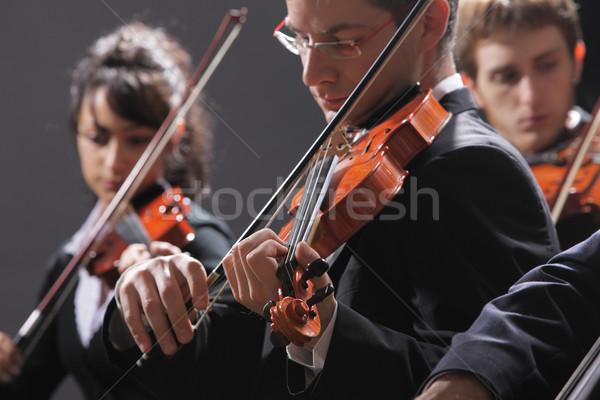 Musique classique concert symphonie musique violoniste main Photo stock © stokkete