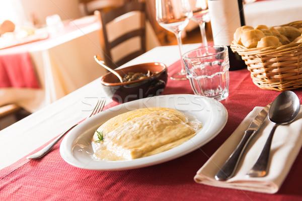 Tasty lunch at the italian restaurant Stock photo © stokkete