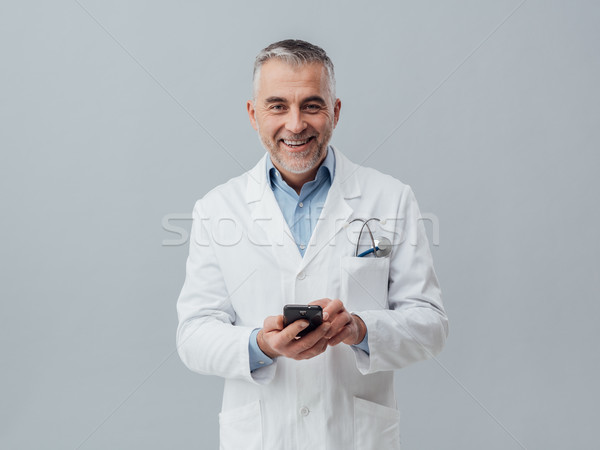 Stock photo: Medical service consultation online