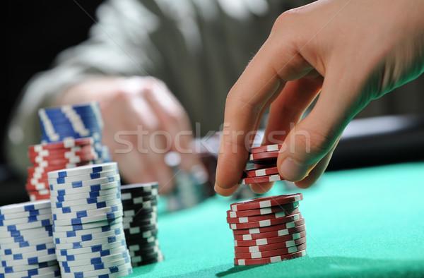 Poker texas holdem Stock photo © stokkete