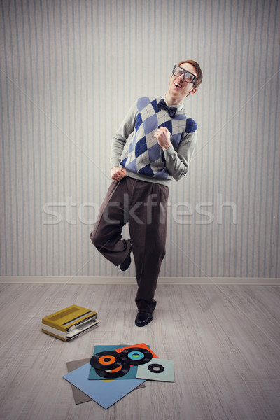 Nerd dancer Stock photo © stokkete