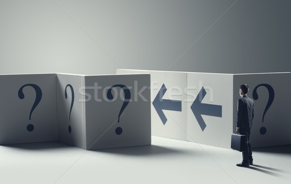 Uncertainty in business concept Stock photo © stokkete