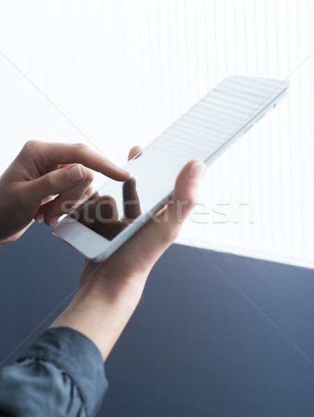 Woman with digital tablet Stock photo © stokkete