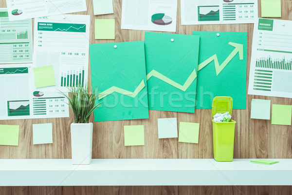 Financial success and green business Stock photo © stokkete