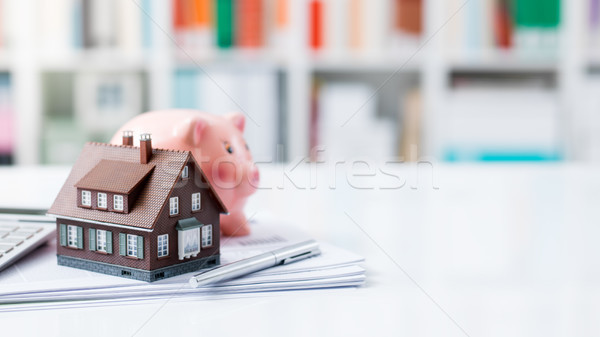 Real estate, home loan and mortgages Stock photo © stokkete