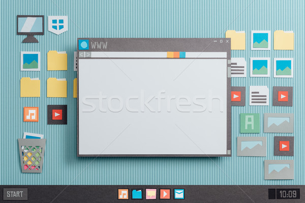 Browser and blank web page Stock photo © stokkete