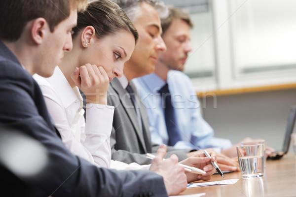 Sıkıcı seminer iş adamları sıkılmış toplantı iş adamı Stok fotoğraf © stokkete