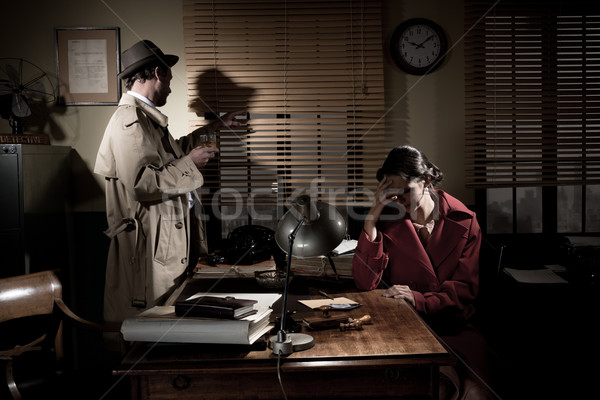 Detective giving bad news Stock photo © stokkete