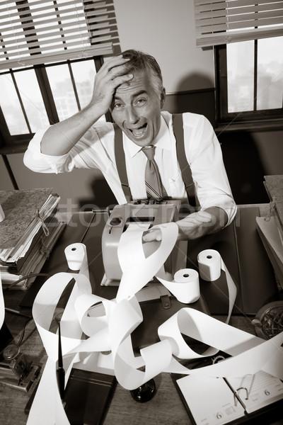 Desesperado vintage contador escritorio largo Foto stock © stokkete