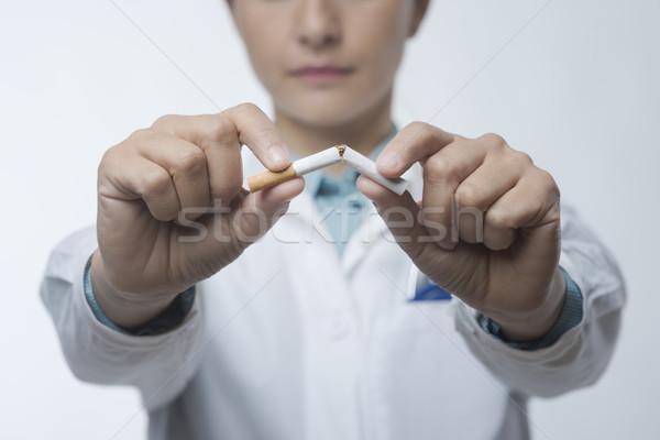 Stop smoking Stock photo © stokkete