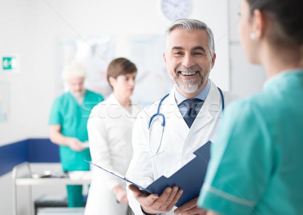 Foto d'archivio: Medico · medici · record · sorridere · professionali
