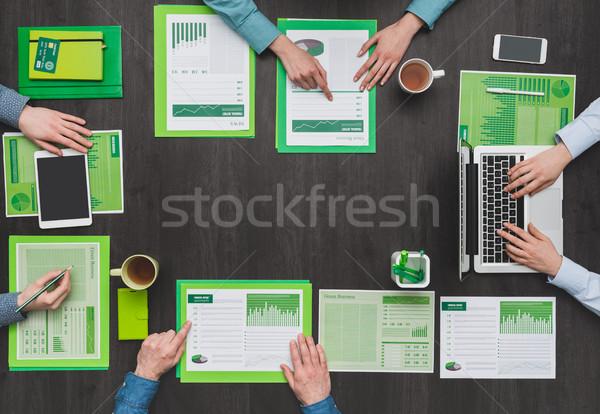 Green business team Stock photo © stokkete