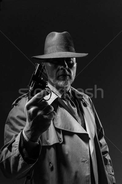 Agent with a revolver Stock photo © stokkete