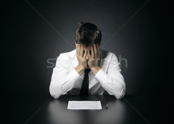 Dificuldades trabalhar retrato desesperado escritório gerente Foto stock © stokkete