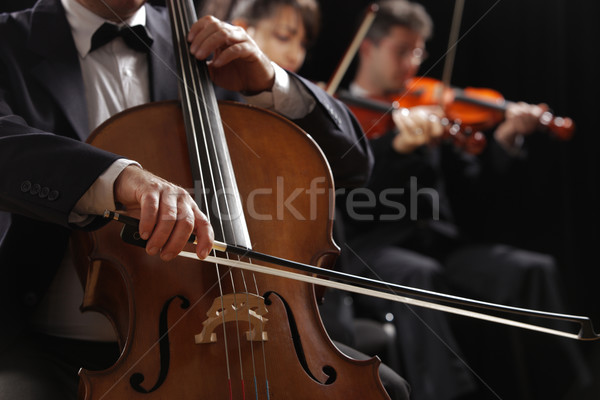Classical music, cellist and violinists Stock photo © stokkete
