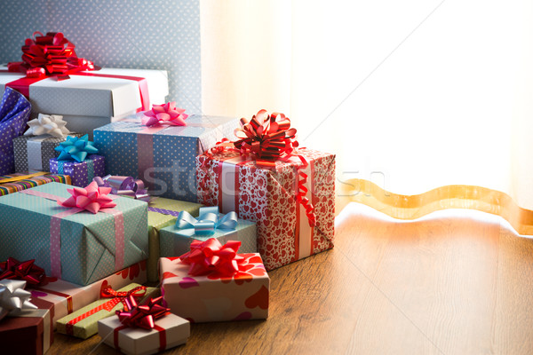Plenty of colorful presents Stock photo © stokkete