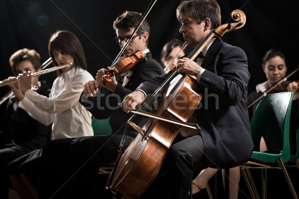 Stock photo: Classical music concert: symphony orchestra on stage