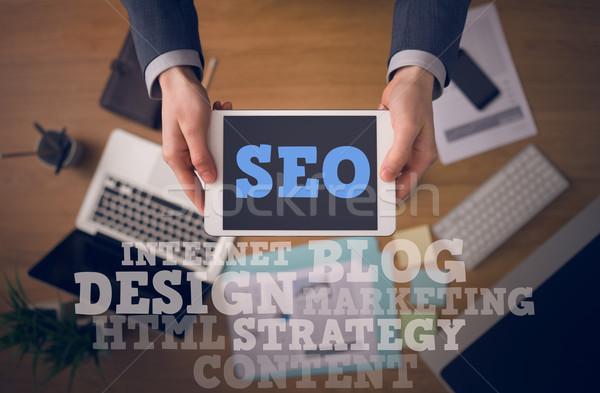 Search engine optimization concept Stock photo © stokkete