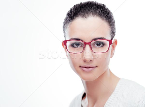 Sorridere modello posa moda occhiali giovani Foto d'archivio © stokkete