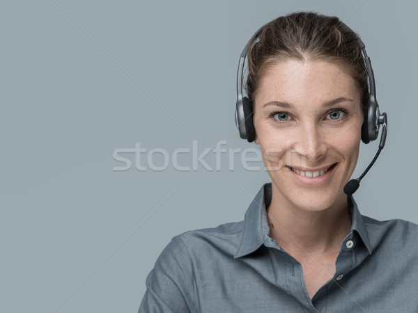 Call center and customer support operator Stock photo © stokkete