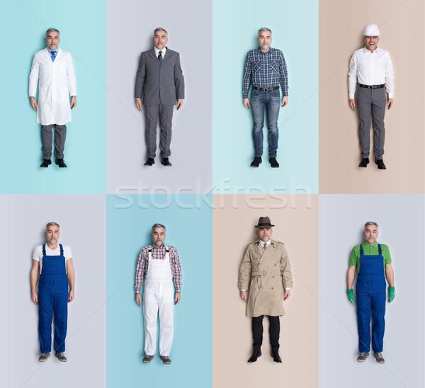 Ludzi lalek kolekcja mężczyzna inny oferty pracy Zdjęcia stock © stokkete