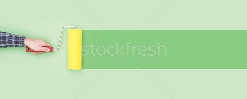 Schilderij muur verf creativiteit doe het zelf exemplaar ruimte Stockfoto © stokkete