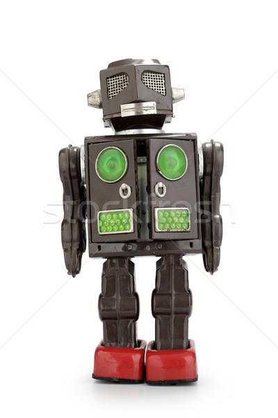 ретро олово робота игрушку изолированный белый Сток-фото © stokkete