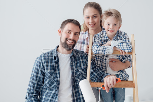 Family and home renovation Stock photo © stokkete