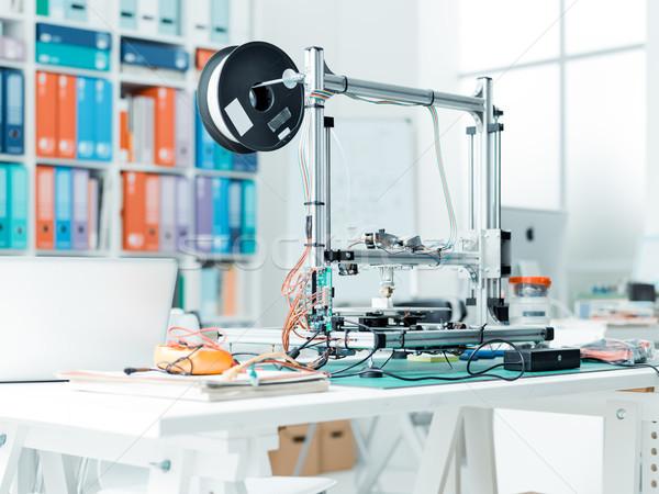 3D yazıcı laboratuvar okul laboratuvar teknoloji Stok fotoğraf © stokkete