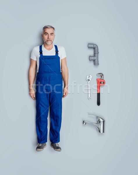 Realistic plumber doll Stock photo © stokkete