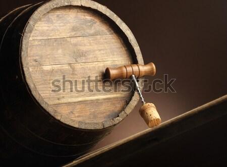 wine barrel Stock photo © stokkete