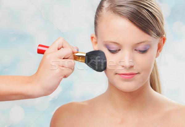 Applying professional make up Stock photo © stokkete