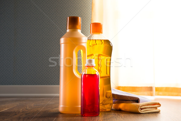 Hardwood floor cleaners Stock photo © stokkete