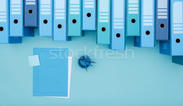 Archive binders and monochrome desktop Stock photo © stokkete