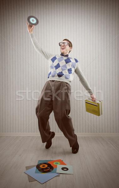 Stréber táncos diák tánc egyedül zene Stock fotó © stokkete