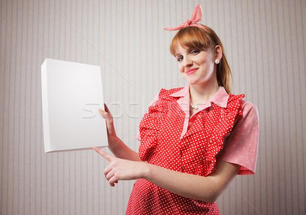 Kupić gospodyni domowa pakiet pranie detergent strony Zdjęcia stock © stokkete