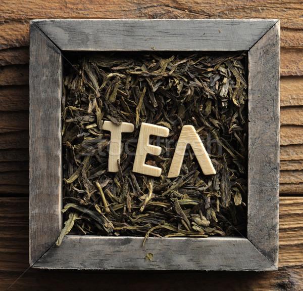 зеленый чай окна древесины органический Сток-фото © stokkete